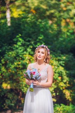 detailreiches Vintage Brautkleid für große Größen