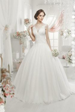 Brautkleid mit hochwertiger Spitze