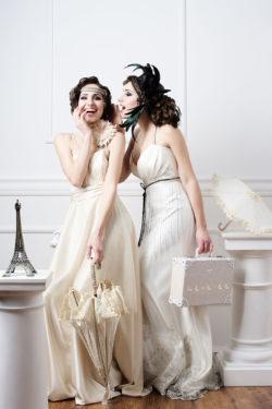 Brautmode im Charleston Stil