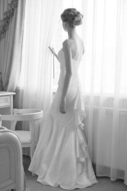 extravagantes Kleid im Meerjungfrau-Schnitt
