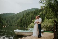romantische Vintage Hochzeit am See