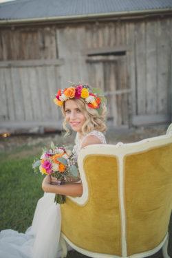 Blumenkrone und Bouquet