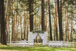 boho-inspirierte Hochzeit im Wald