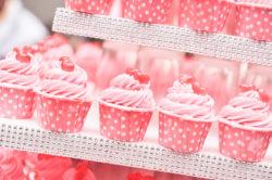 rosarote Mini-Cupcakes