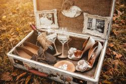 Koffer für Hochzeitskarten