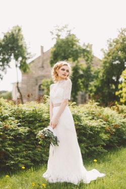 Vintage Kleid mit hochwertiger Spitze